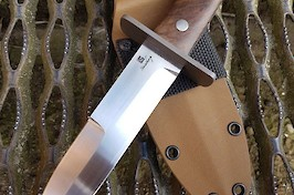 My version in the John Ek Australian Commando Knife. RWL34 blade, 416 guard and stabilised walnut handle